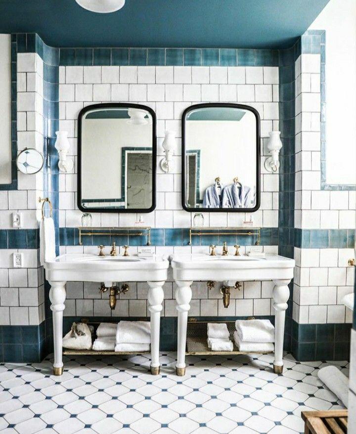 The Hotel Emma San Antonio Design By Roman And Williams Tile By Zioandsons In 2020 Bathroom Design Decor Hotel Emma Bathroom Interior