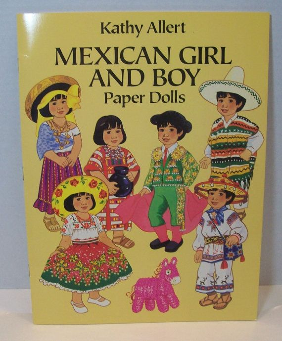 Kathy Allert Mexican Girl and Boy paper dolls  by julesartstuff
