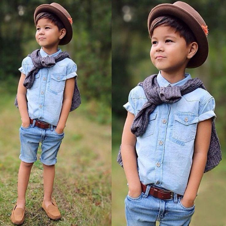 $9.45 (Buy here: https://alitems.com/g/1e8d114494ebda23ff8b16525dc3e8/?i=5&ulp=https%3A%2F%2Fwww.aliexpress.com%2Fitem%2F2015-new-3-pieces-summer-boys-clothing-sets-gentleman-set-baby-boy-clothes-shirt-and-suspender%2F32364105753.html ) fashion 2017 Summer Fashion Clothing Set Children 2PCS Boys Clothing Set Denim Shirt+Shorts Good Quality Casual Boys Clothes for just $9.45