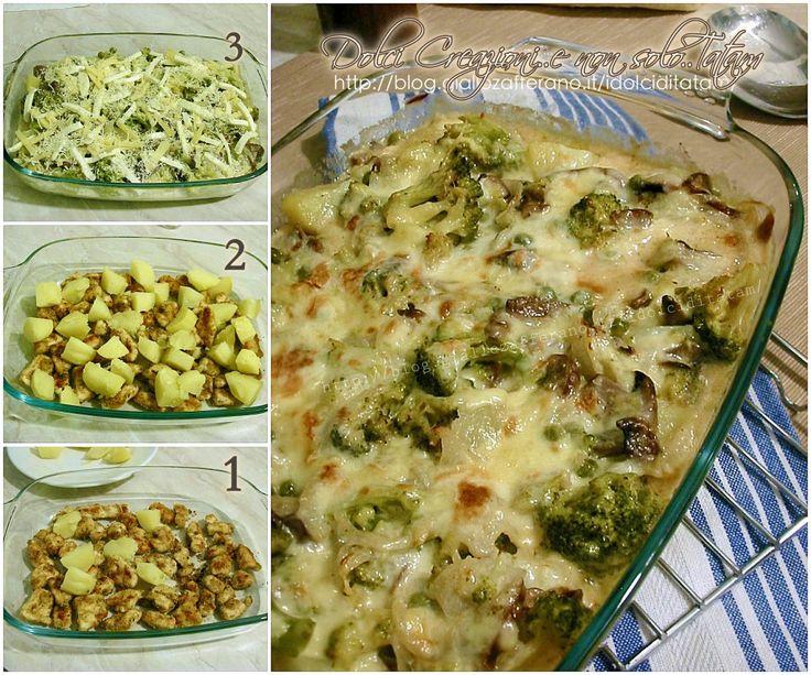 Pasticcio di pollo con verdure e formaggi2