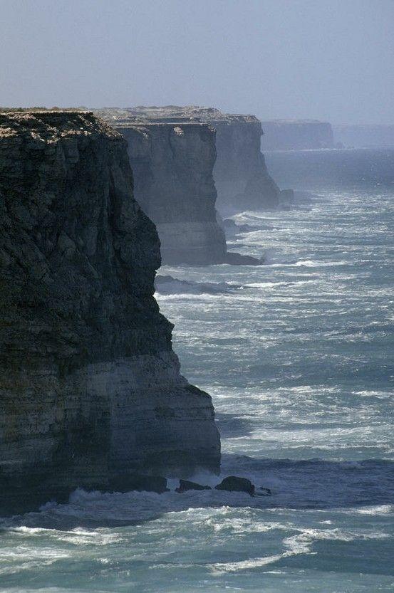 The Bunda Cliffs drop over 200 feet into the Southern Ocean - Southern Australia by deana