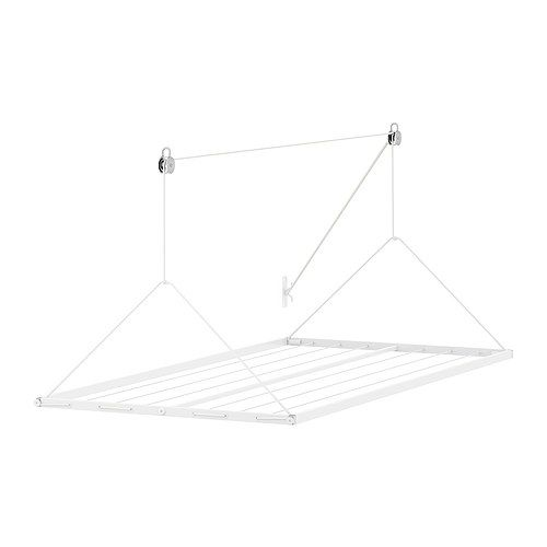 I need this, it 's adjustable for a comfortable working height. Hoist it up to let clothes dry, bring it down to remove. Love it. Plus its only $14.99. (The husband loves when I explain why I need to go to Ikea...)