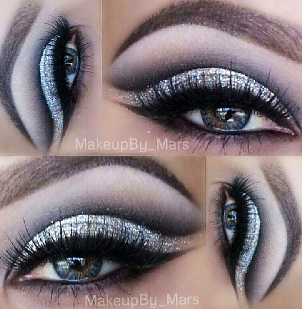 Black and Silver Prom Makeup
