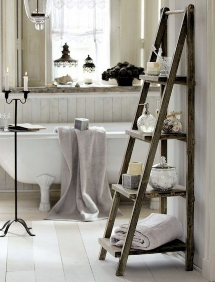best 25 bathroom ladder ideas on pinterest bathroom Chrome Towel Ladder Ladder Bathroom Towel Storage