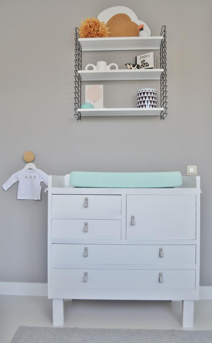 Commode | dressor | handle | leren greep | nursery | http://www.10voorstijl.nl/category/weblog/