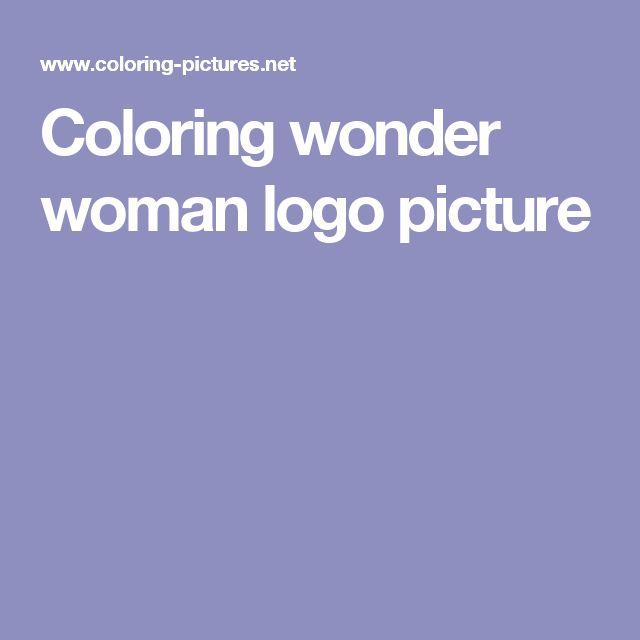 Coloring wonder woman logo picture