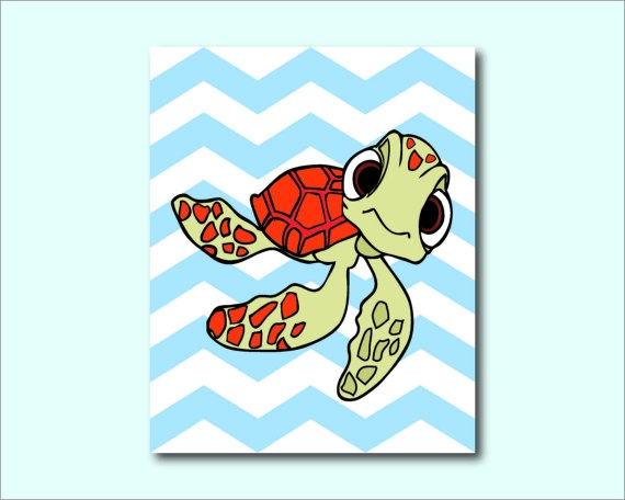 Crush from Finding Nemo  Nursery or Kids by SusanNewberryDesigns, $15.00