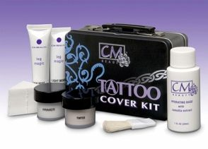 Want to hide those tattoos on your wedding day? This CM-Beauty tattoo cover kit is a great method for successfully hiding tattoos. $33.50