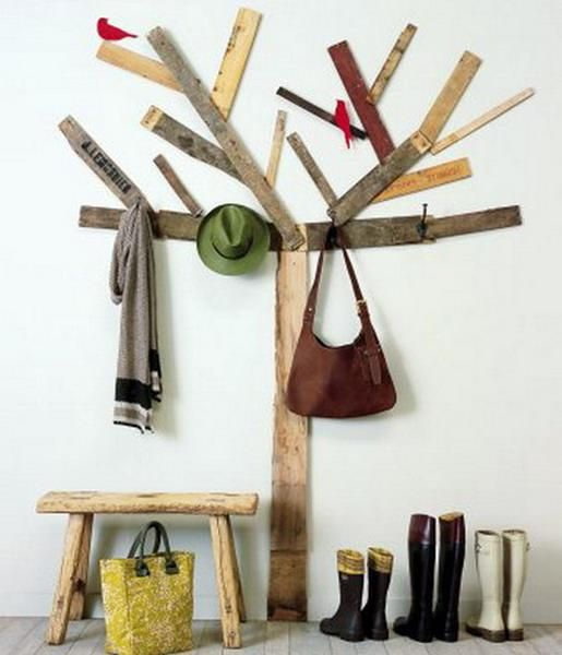 do it yourself wooden coat racks w/rulers: Ideas, Craft, Wood, Trees, Coat Racks, House, Diy, Coatrack, Room