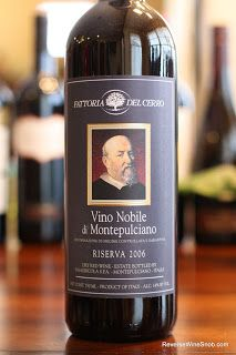 Sophisticated, smooth, savory...a noble Vino Nobile di Montepulciano! Fattoria del Cerro Vino Nobile di Montepulciano Riserva 2006. 80% Sangiovese with the balance a mix of Canaiolo and Mammolo from Montepulciano, Tuscany, Italy.   http://www.reversewinesnob.com/2013/02/fattoria-del-cerro-vino-nobile-di-montepulciano-riserva.html