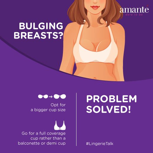 Wondering why breasts are bulging out over the top of the bra.? Here's the solution to your problem! #LingerieTalk