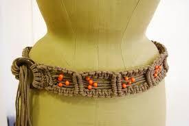 Resultado de imagen para cinturones tejidos en macrame