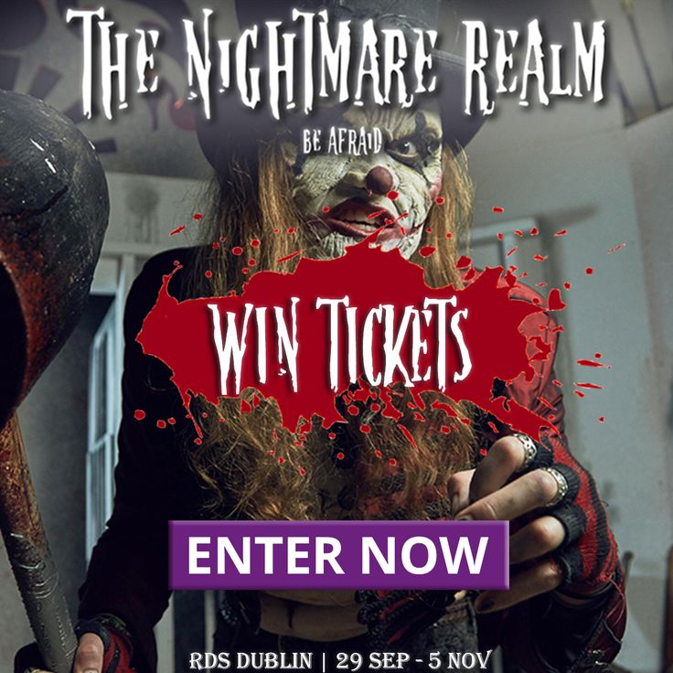WIN ticket's to the Nightmare Realm!  ENTER HERE: bit.ly/WINNightmareRealm