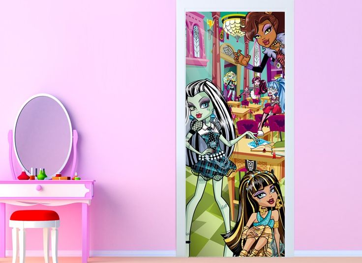 Visit the ghouls at Monster High any day with this Wall-Ah! Doors to  sc 1 st  Pinterest & 9 best Monster High images on Pinterest | Monster high Vinyl wall ...