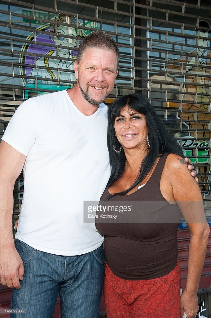 Angela 'Big Ang' Raiola and husband Neil at Drunken Monkey on July 22, 2012 in New York City.