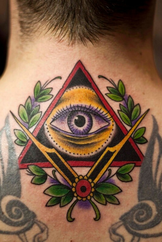 Pin by Wing on 上帝之眼 (With images) Triangle tattoos