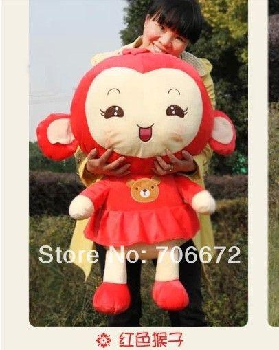 Чучела животных прекрасный обезьяна ПП хлопка большой 70 см красная юбка девушка обезьяна плюшевые игрушки около 27 дюймов обезьяна кукла подарок t6854