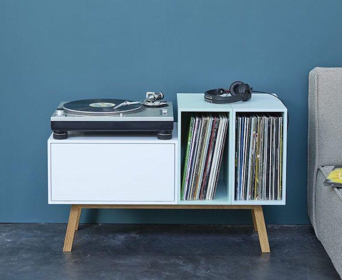 Les 25 meilleures id es de la cat gorie rangement vinyle for Meuble pour platine vinyle