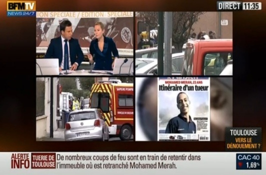 11th, 15th, 19th and 21st of March : Mohamed Merah killing campaign in France with 7 murdered people and 4 injured policemen during 3 attacks and the ultimate assault in Toulouse and Montauban