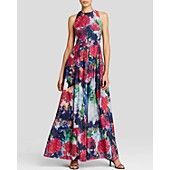 Kay Unger Gown - Sleeveless Floral Organza