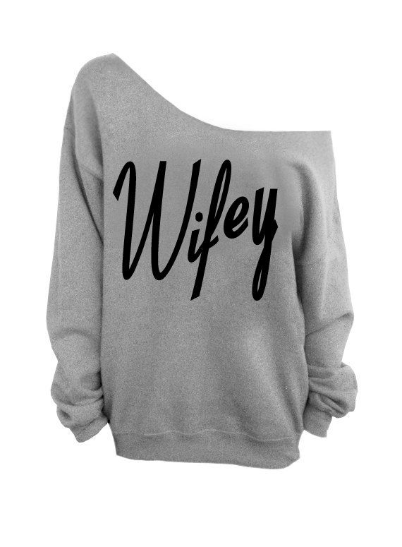 Wifey Gray Slouchy Oversized Sweatshirt More Colors on Etsy, £15.62