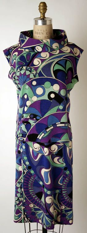 #Vintage couture #pattern  Emilio Pucci shift 1965  @The Metropolitan Museum of Art