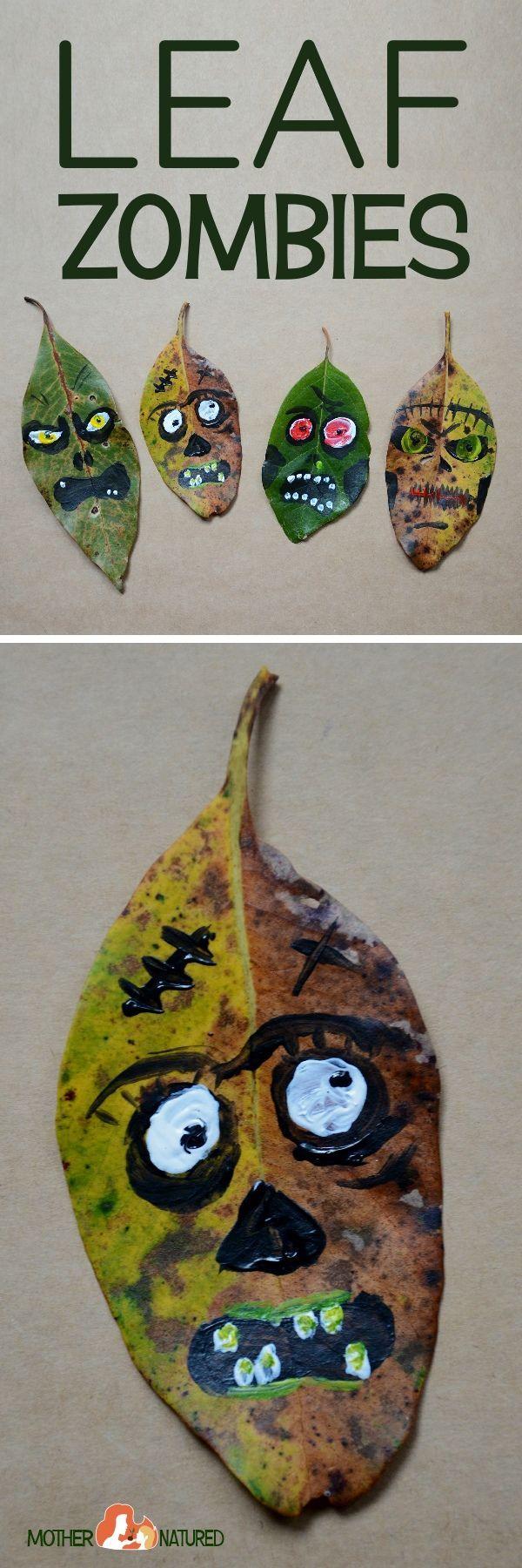 Leaf  Zombie Craft | Zombie Craft | Halloween Craft