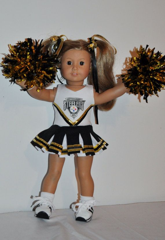 STEELERS Cheerleader outfit  that fits by DOLLYDUDSBYBECKIE, $22.99