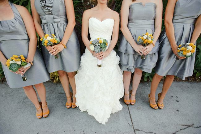 1000+ Images About Bridesmaids In Silver Grey On Pinterest