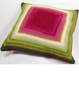 crocheted pillow - square - free pattern
