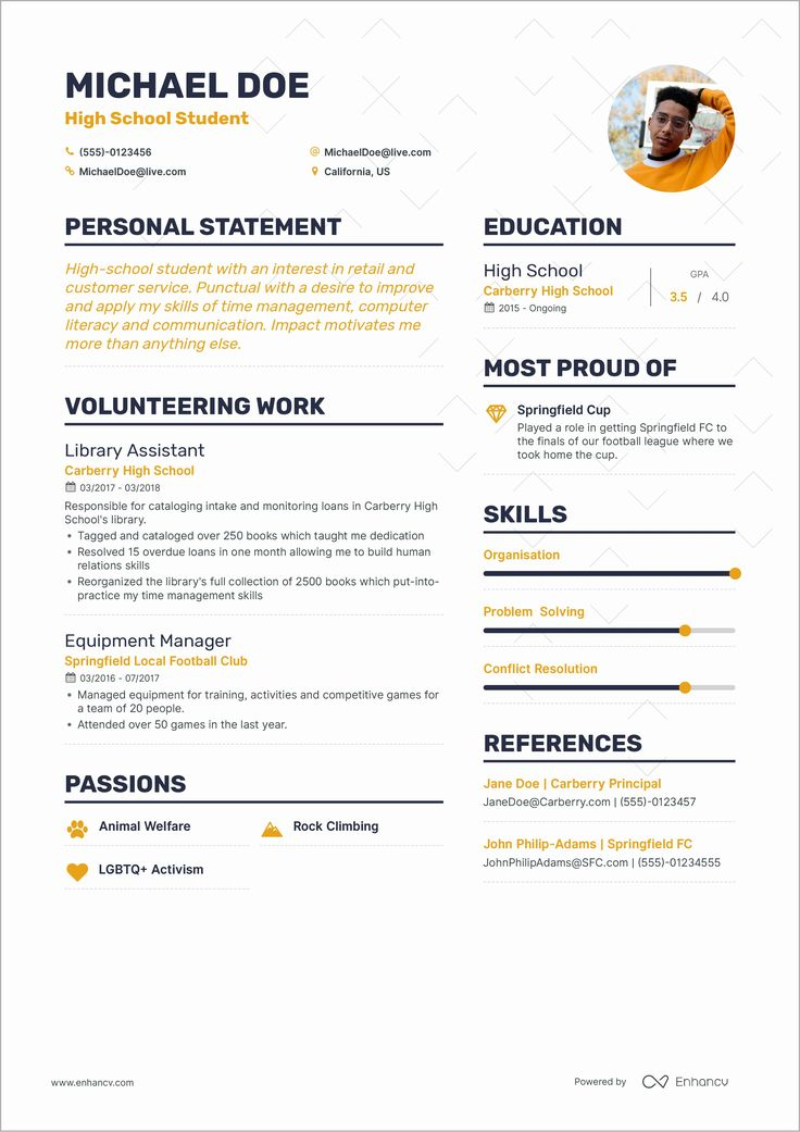 High School Job Resume Lovely How to Write Your First Job