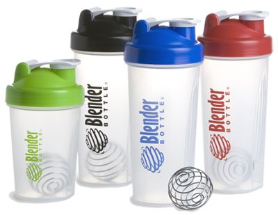 BlenderBottle mixes my protein shakes without the noise and the cleaning hassles of an electric blender.