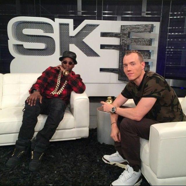 DJ Skee wearing Air Jordan III 3 Mocha; 2 Chainz wearing ...