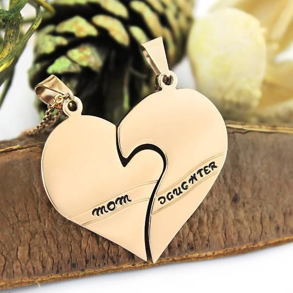 21 best mother daughter necklaces images on pinterest heart mother daughter necklace heart gold tone purity pendant infinity necklace 2pcs aloadofball Choice Image