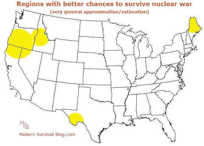 Nuclearwarsurvivalmapusa Pray To Jesus Nuclear Pinterest - Us nuclear target map