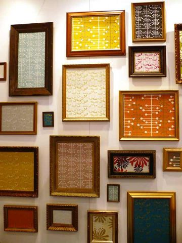 Is Your Gallery Wall Missing Something? Consider Throwing A Small Sheet Of That Leftover Wallpaper in a Frame!