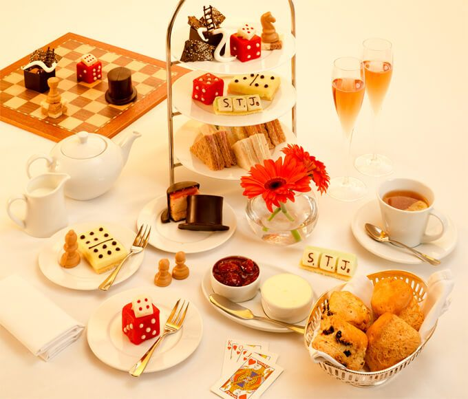 """St. James's Hotel & Club LONDON will be offering an exciting Board Game Afternoon Tea concept, called """"It's All In the Game"""", designed by Executive Head Chef, William Drabble."""