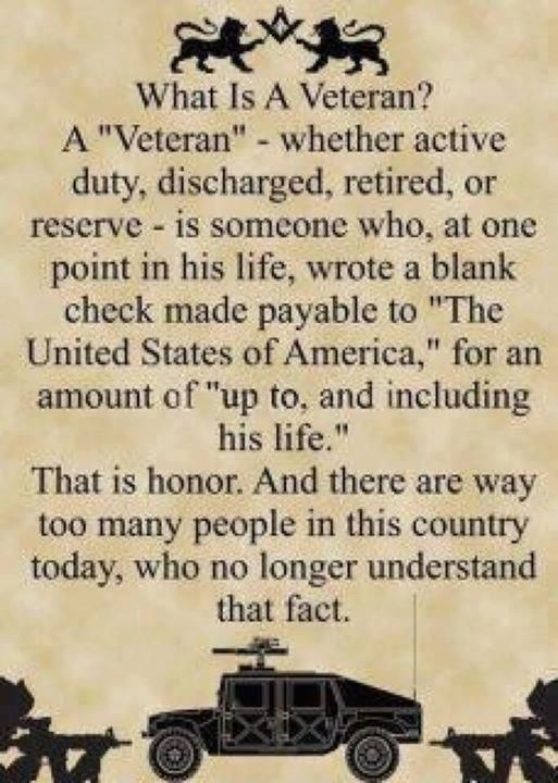 It is Veterans Day that we remember those who have served in the military & fought for our country's freedom. Description from pinterest.com. I searched for this on bing.com/images