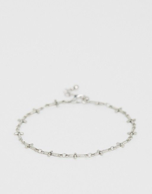 1fc01b07de DESIGN chain bracelet with crosses in burnished silver tone in 2019 ...