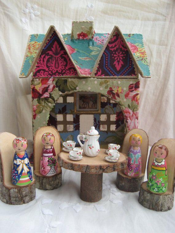 Garden Party Peg Dolls