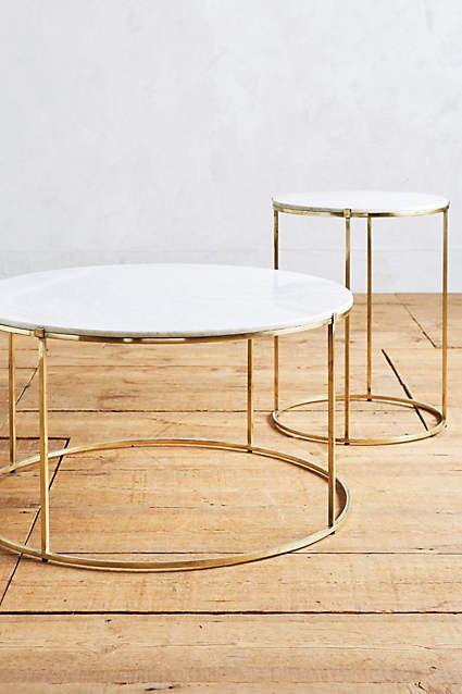 Leavenworth Marble Coffee Table - anthropologie.com