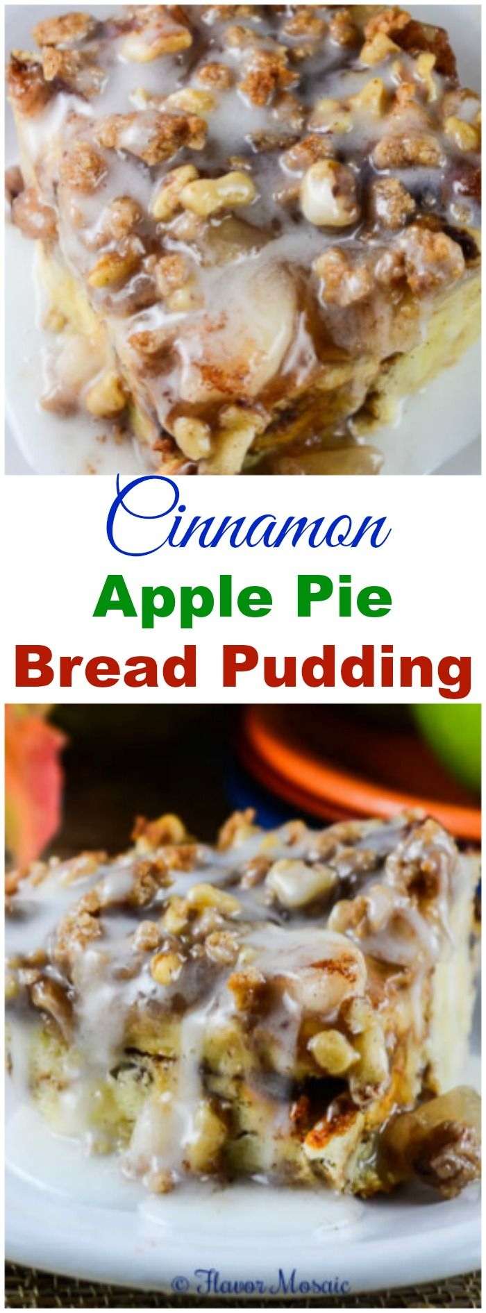Apple Pie Bread Pudding | Recipe | Apple Pie Bread, Cinnamon Apples ...