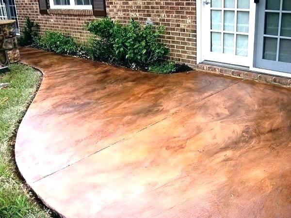 patio concrete stain patio