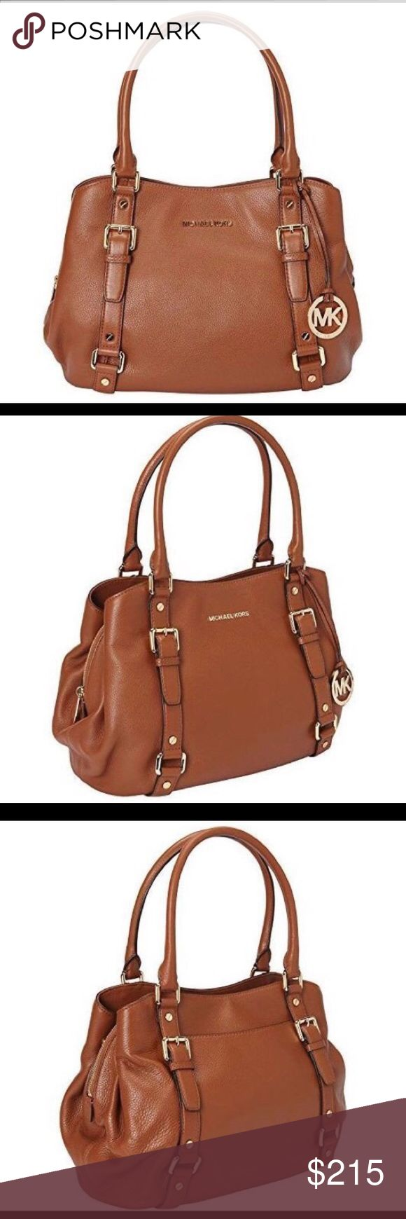 MK bedford large satchel Very good used condition! Interior zip pocket,four slip pockets,exterior slip pockets. Made from leather. 10.5 x 5 x 14.5 Michael Kors Bags Satchels