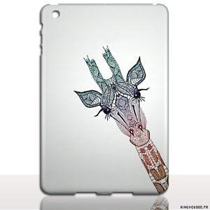 iPad Air 2 - Coque animal Girafe - etui rigide Apple. #coque #fun #girafe #animal #ipad