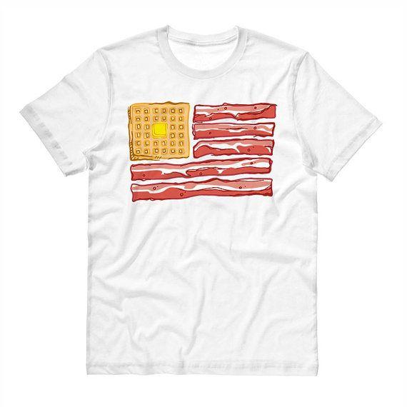Breakfast Flag T Shirt Bacon Shirt 4th of by TeesAndTankYouShop
