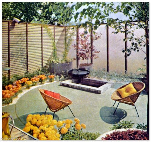 1963 MID CENTURY MODERN LANDSCAPING Atomic Jet Age Design Ideas Outdoor  Living