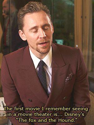 Tom Hiddleston on their first movie theater experience. Gif-set (by tomhiddleston-gifs): http://maryxglz.tumblr.com/post/155757806852/x Video: https://www.youtube.com/watch?v=zt49WOA_V_Y