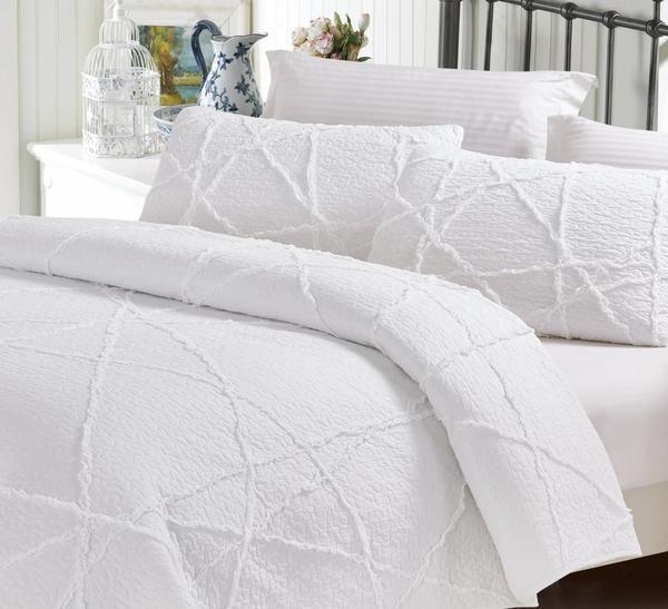 Crazy Ruffles 100 Cotton Quilt Set Bedding Sets Ruffle