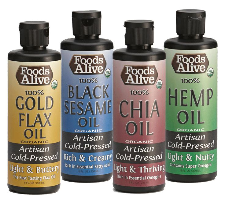 Not sure which artisan cold pressed oil you will like best? Try our variety pack and get one of each!  Flax Oil, Hemp Oil, Chia Oil, and Black Sesame Oil. http://www.foodsalive.com/Omega-3-Oils-8-oz-Variety-Pack-p/vp-omega-3.htm
